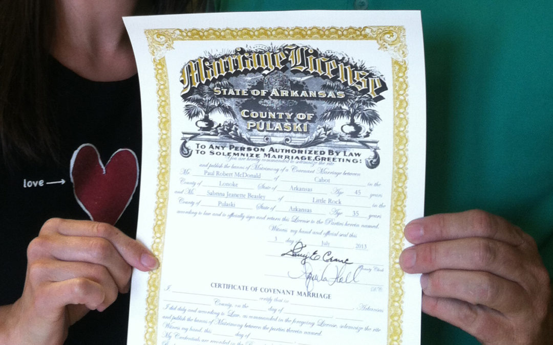 A Marriage License is Not a Receipt, it's a Commitment